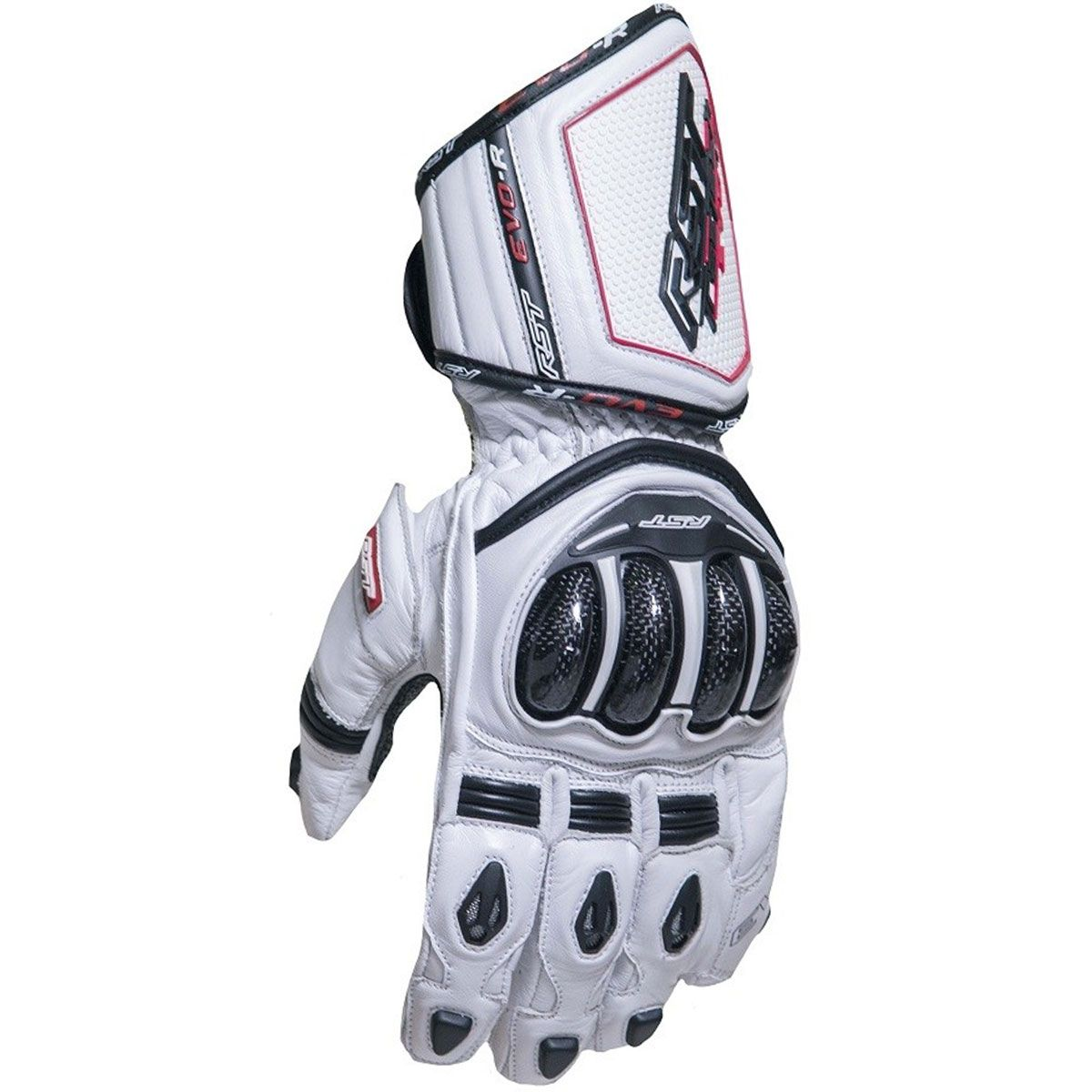 RST Tractech Evo R CE Leather Gloves White