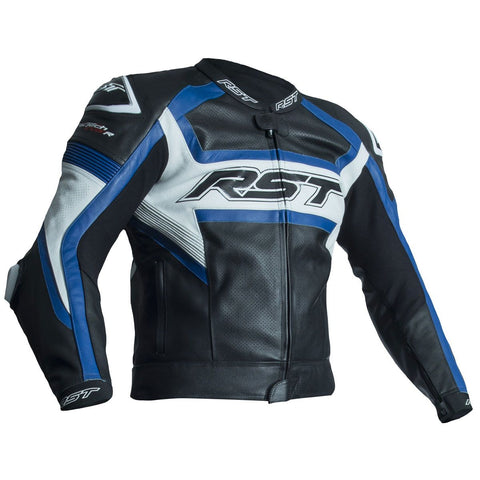 RST Tractech Evo R CE Leather Jacket Blue