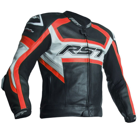 RST Tractech Evo R CE Leather Jacket Fluo Red