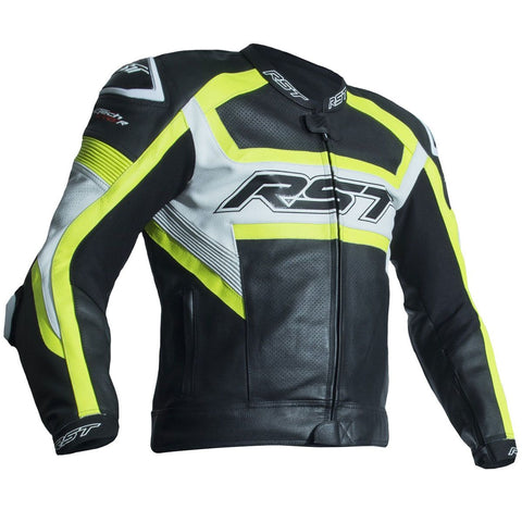 RST Tractech Evo R CE Leather Jacket Fluo Yellow