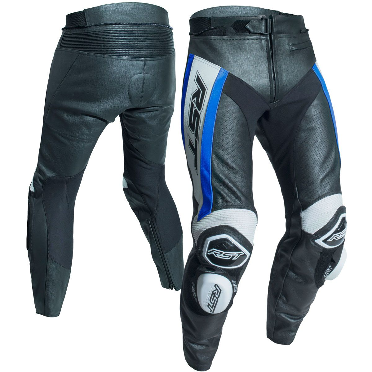 RST Tractech Evo R CE Leather Trousers Blue