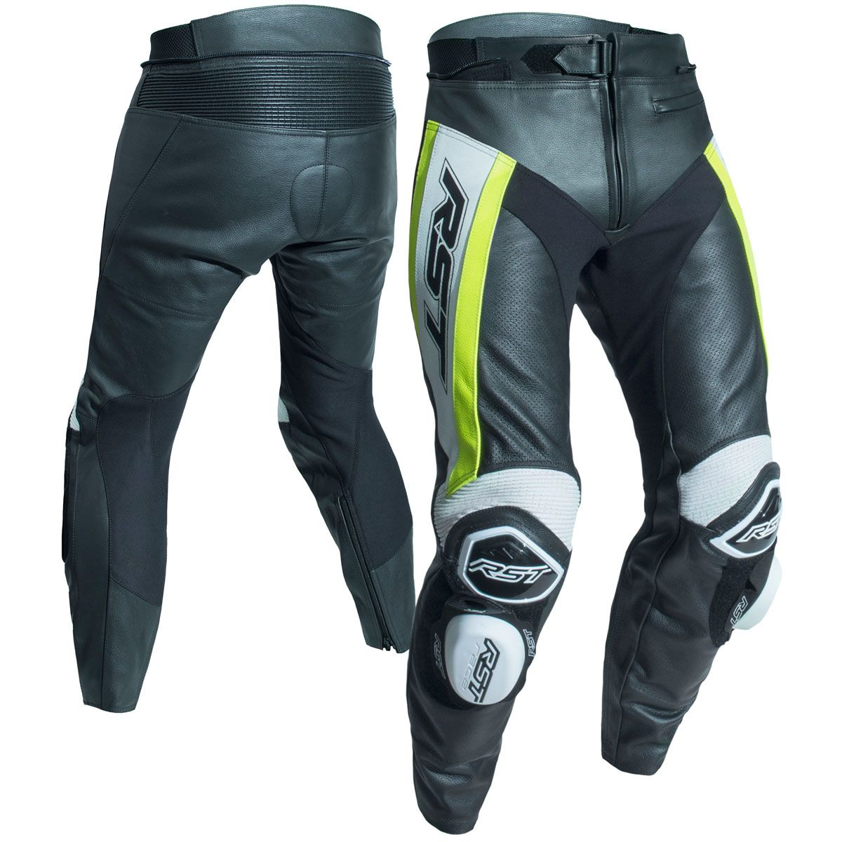 RST Tractech Evo R CE Leather Trousers Flo Yellow