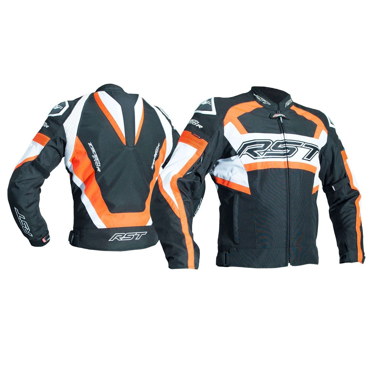 RST Tractech Evo R CE Textile Jacket Black / Fluo Red
