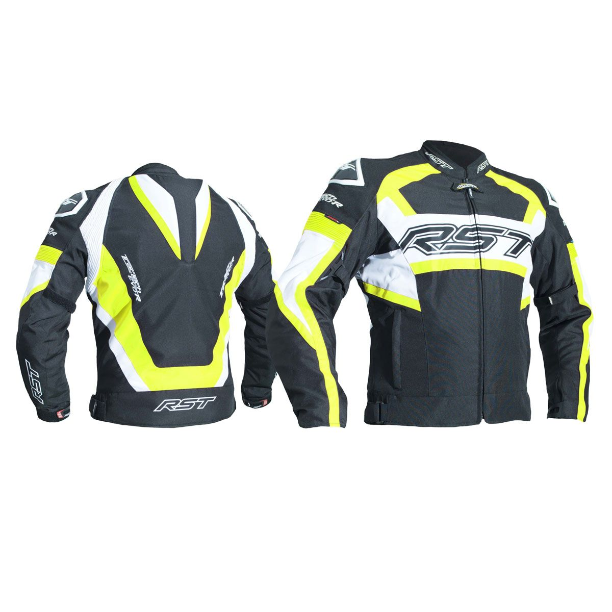RST Tractech Evo R CE Textile Jacket Black / Fluo Yellow