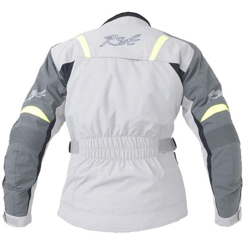 RST Gemma Ladies Textile Motorcycle Jacket Silver / Fluo Yellow