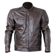 RST Roadster II Leather Motorcycle Jacket Tobacco Brown