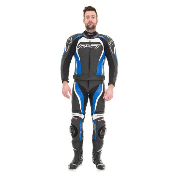 RST Tractech Evo-2 Leather Jacket Blue