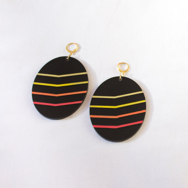 ELLIPTICAL SHADOW EARRINGS
