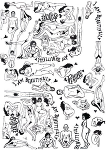 A4 COLOURING IN BEAUTIFUL BODIES PRINT