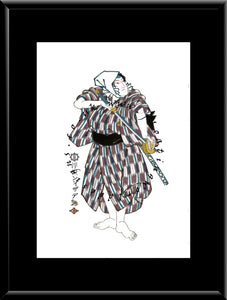 C-048 Samurai  Mounted or Framed Print