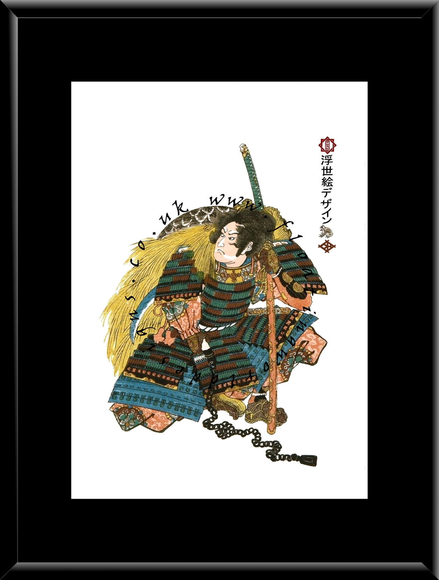 F-009 Warrior Mounted or Framed Print