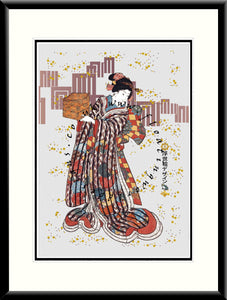 LE-020 Girl with a Box Limited Edition Mounted or Framed Print