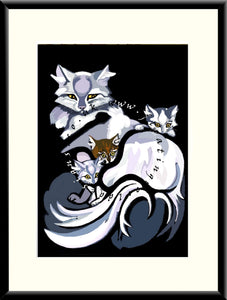 M-028a Cats   Mounted or Framed Print