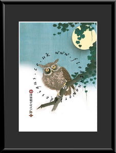 M-034 Owl & Moon    Mounted or Framed Print