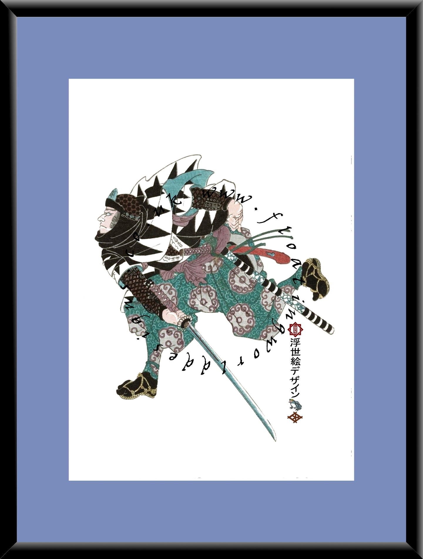 R-033  Oboshi Nobukiyo  Mounted or Framed Print