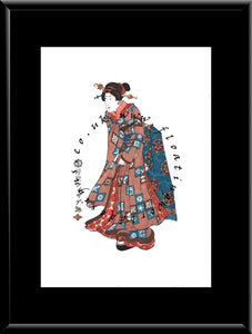 W-006  Woman  Mounted or Framed Print