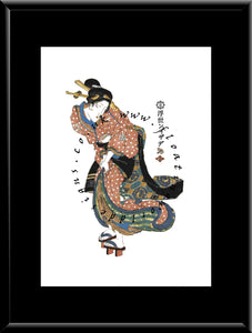 W-026  Woman  Mounted or Framed Print