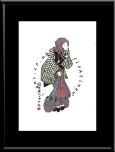 W-032 Woman Mounted or Framed Print