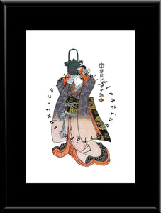 W-038 Woman Mounted or Framed Print