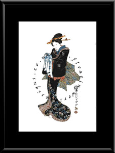 W-070 Woman Mounted or Framed Print