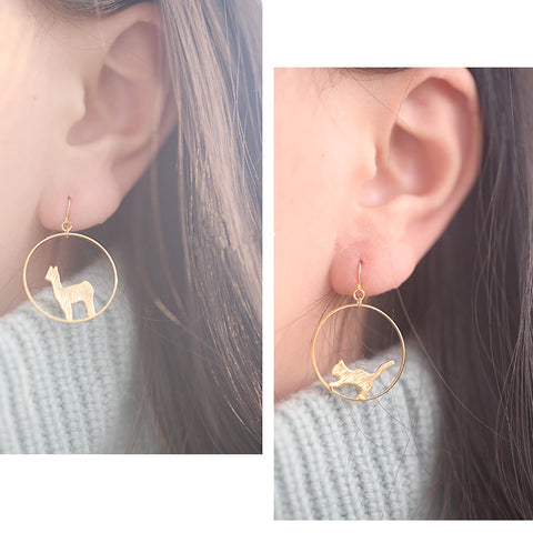 Llama earrings