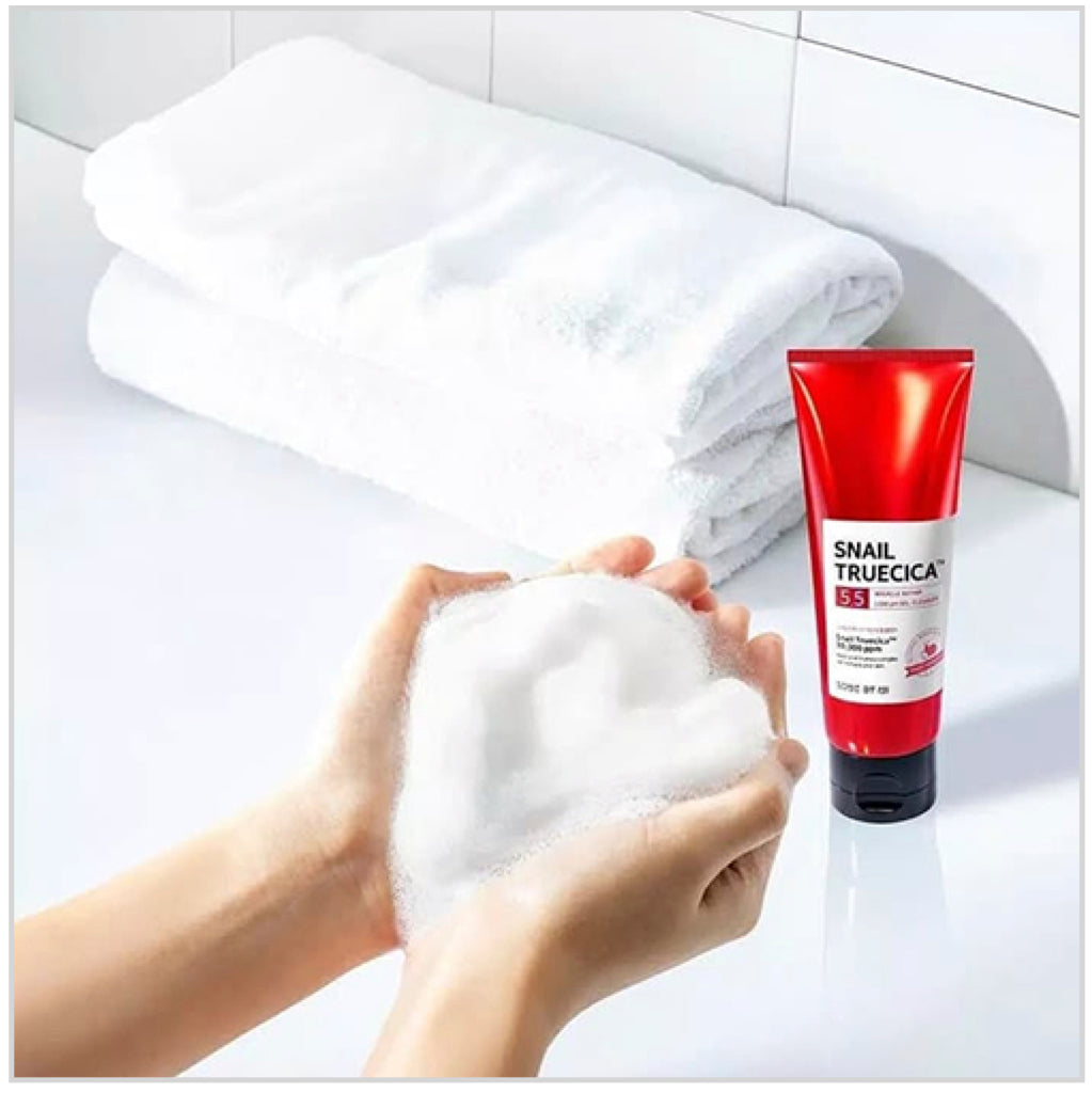SOME BY MI Snail Truecica Miracle Repair Low ph Gel Cleanser 100ml - www.Kskin.ie