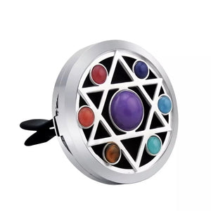 Car Jewellery Diffuser - Chakra Gemstone Star