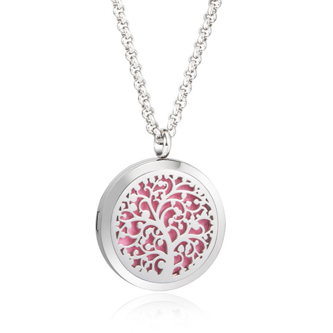 Essential Oil Diffuser Necklace -  Tree