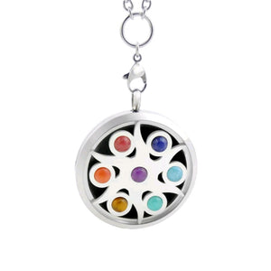 CHAKRA GEMSTONE Aromatherapy Necklace -Sun