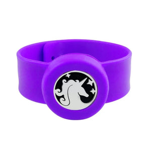 Kid's Diffuser Slap Band- Unicorn purple