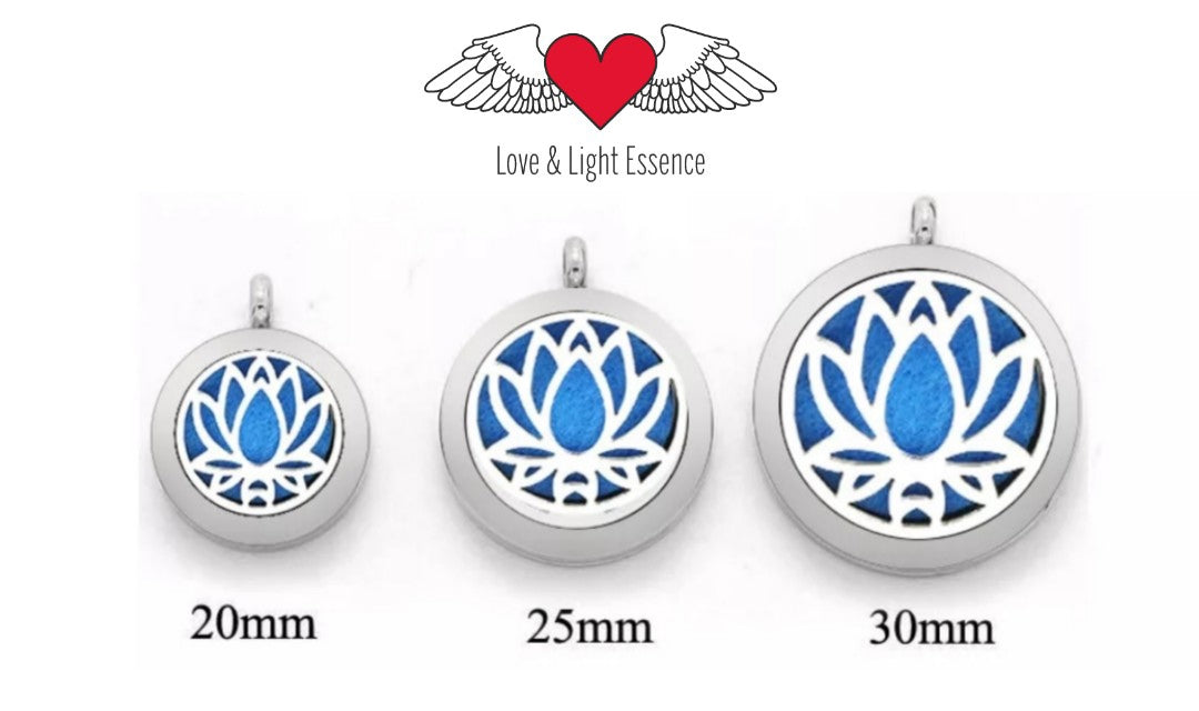 Essential Oil Diffuser Necklace - Lotus Flower