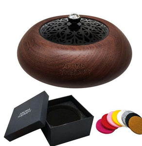Mandala Mini Wooden Jewellery Diffuser - Black Walnut