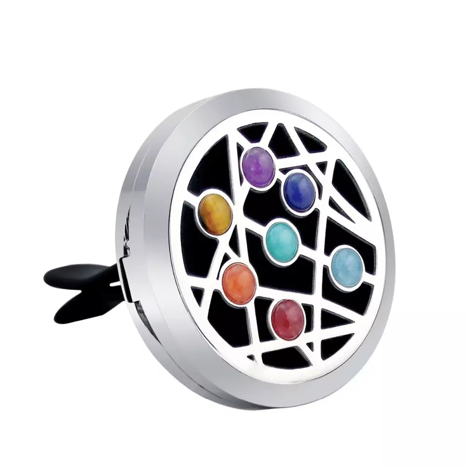 Chakra Gemstone Essential Oil Car Diffuser Jewellery