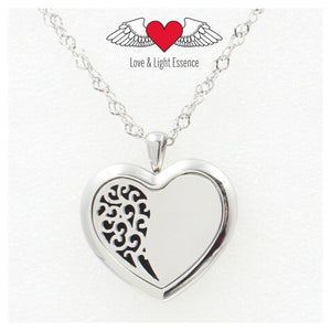 Essential Oil Diffuser Necklace - Heart