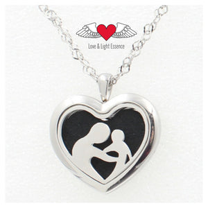 Essential Oil Diffuser Necklace - Mother & Child