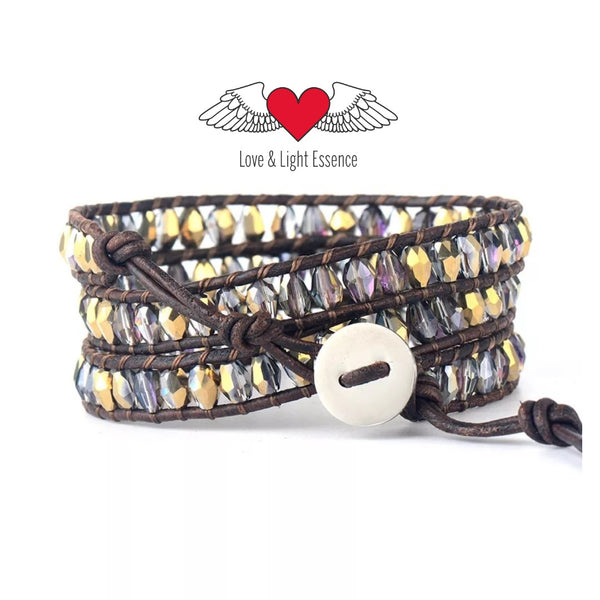 """ CLEOPATRA "" Leather Wrap Bracelet"
