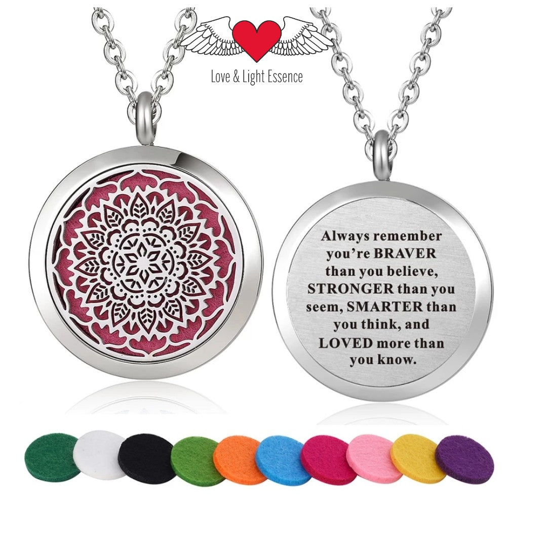 Affirmation- Essential Oil Diffuser Necklace