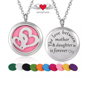 Essential Oil Diffuser Necklace- Love- Mother & Daughter