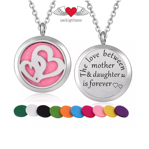 Affirmation- Essential Oil Diffuser Necklace- Love- Mother & Daughter