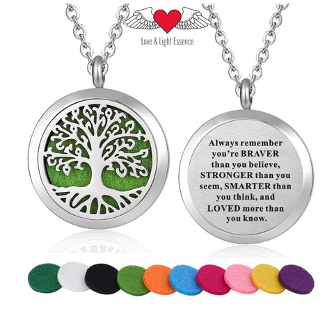 Affirmation- Essential Oil Diffuser Necklace - Tree of Life