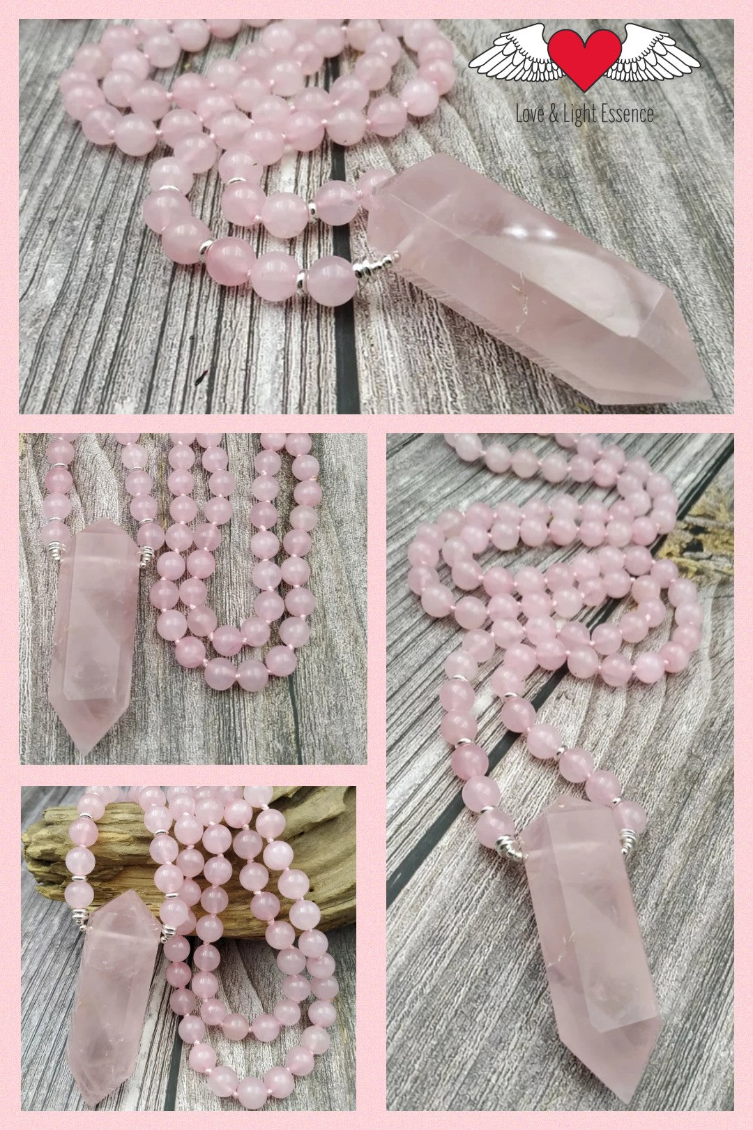 108 Mala Rose Quartz Necklace