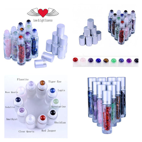 Gemstone Healing Roll On bottles