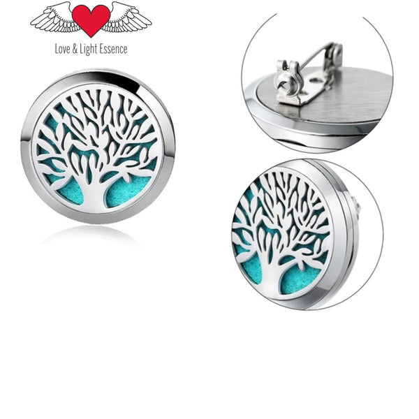 ESSENTIAL OIL DIFFUSER BROOCH- TREE OF LIFE