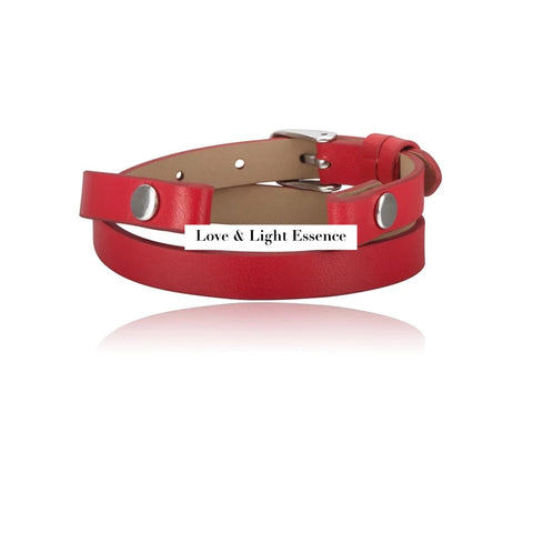 Leather Wrap Band- Red