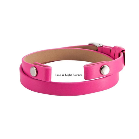 Leather Wrap Band- Pink