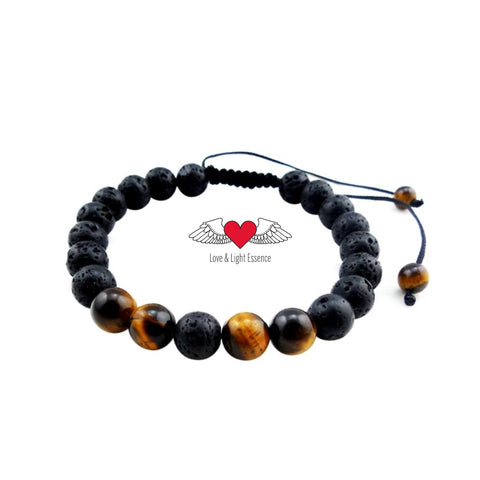 KID'S Tiger's Eye & Lava Stone Protection & Confidence Bracelet