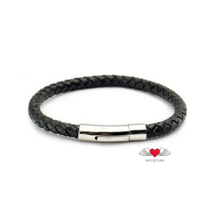 Genuine Leather Braided Bracelet with magnetic clasp