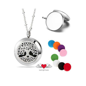 Essential Oil Diffuser Necklace - Tree of Life 25mm