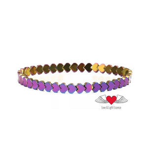 Colourful Hematite Heart Bracelet