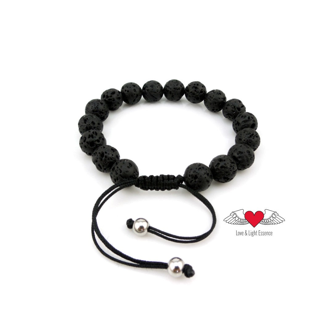 Adjustable Lava Stone Bracelet- Kids